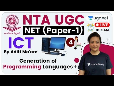 NTA UGC NET 2020 (Paper-1)   ICT by Aditi Ma'am   Generation of Programming Languages
