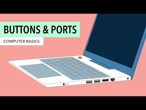 Computer Basics: Buttons and Ports on a Computer