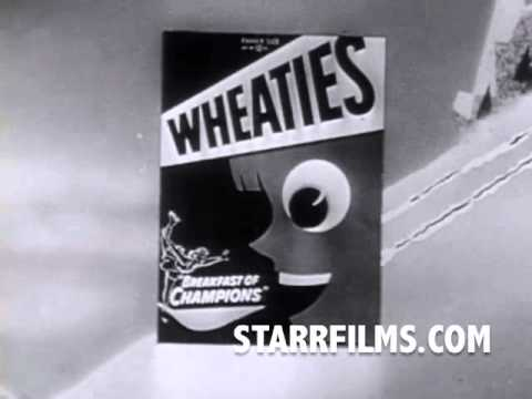 SNOWBOARDING 1954 Wheaties Tv Commecial