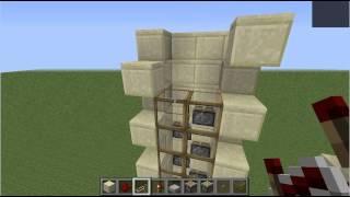 マインクラフト・4×4ピストンエレベーター(Minecraft 4×4 Piston Elevator)