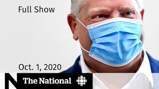 CBC News: The National | Battling a COVID-19 testing backlog; Role of superspreaders | Oct. 1, 2020