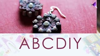 How To Make Earrings From Magazines | Paper Quilling DIY