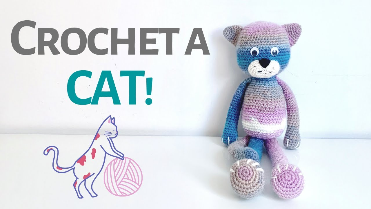 Playing Cat Amigurumi Free Crochet Pattern | 720x1280