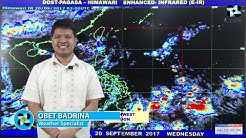 Public Weather Forecast Issued at 4:00 PM September 20, 2017
