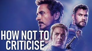 The Worst Attempt to Criticise Avengers: Endgame Ever