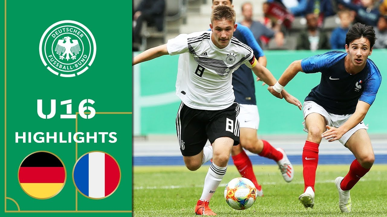 Download Strong performance by German U16 | Germany vs. France 3-0 | Highlights | U16 Friendly