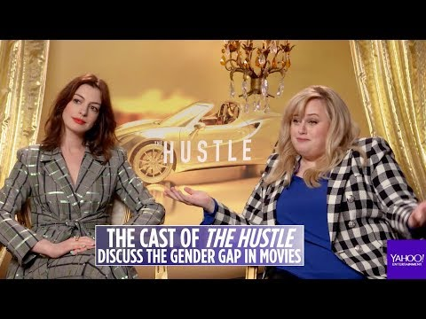 &39;The Hustle&39; stars Rebel Wilson and Anne Hathaway talk about the gender pay gap in movies