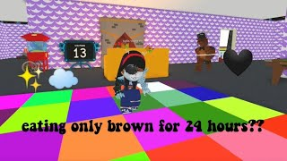 I Ate Only Brown For One Day😂💀☁️ || Roblox