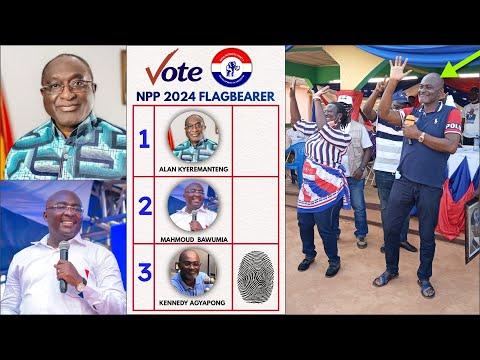 Break, Ken Agyapong Wins NPP 2024 Flagbearership Polls in Accra..