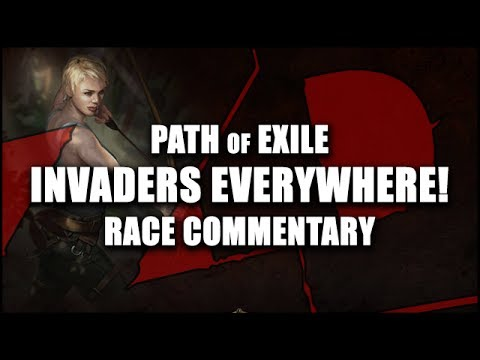 Path of Exile: INVADERS EVERYWHERE Race - 20+ Bosses Per Zone Insanity