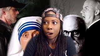 Epic Rap Battle | Steven Spielberg Vs Alfred Hitchcock | Mother Teresa Vs Sigmund Freud reaction