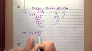 6ns2 Dividing Multi-digit Numbers With Standard Algorithm Part 1