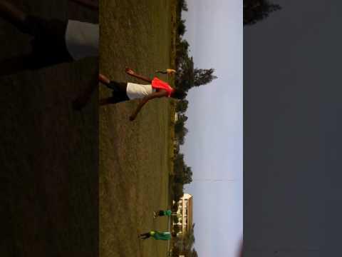 The East African University Football Team training