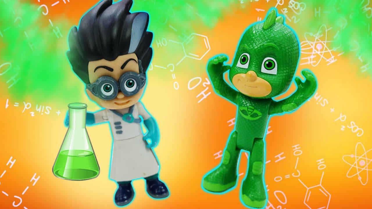 ¿Quién es más rápido, Romeo o los Héroes en Pijama? Cuento de juguetes PJ Mask