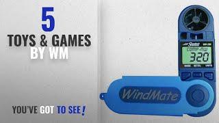 Top 10 Wm Toys & Games [2018]: WeatherHawk WM-200 WindMate Hand-Held Wind Meter, Blue