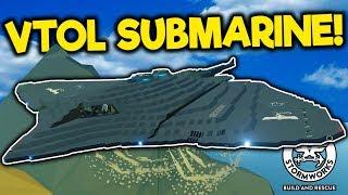 Insane Military VTOL Jet/Submarine with Missiles! - Stormworks Gameplay