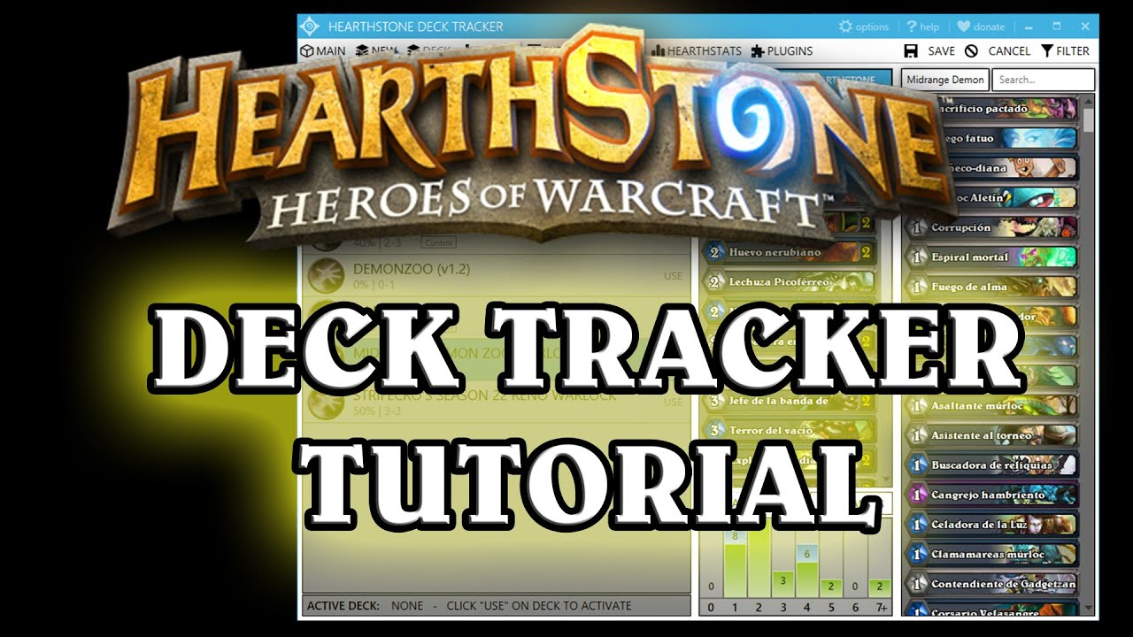 Tutorial Hearthstone Deck Tracker - YouTube