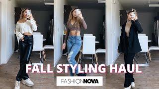 How I Am Dressing For Fall! (FASHION NOVA)
