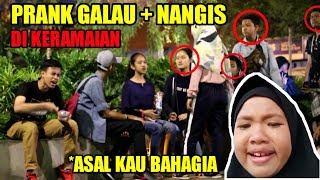 NGAKAK! PRANK GALAU + NANGIS DI PUBLIK / DI KERAMAIAN || NYANYI LAGU ARMADA || Prank Indonesia #19