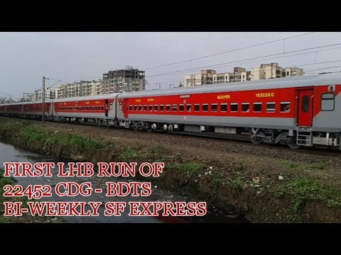 First LHB Run of 22452/Chandigarh - Mumbai Bandra (T) Bi-weekly SF