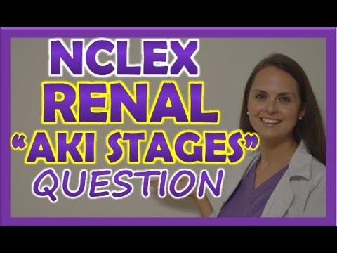 Renal NCLEX Review Question on Acute Kidney Injury Stages