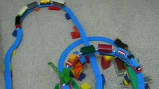 Benjamin's triple decker Thomas's Train track