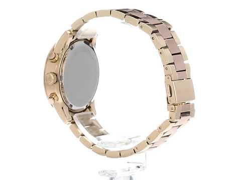 Para Mujer Rosa Kors Michael Ritz Oro Mk6475 Reloj 8OvwmnN0