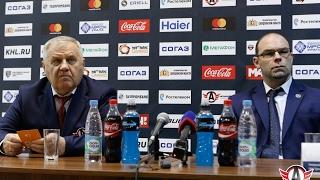 """Пресс-конференция: """"Автомобилист"""" - """"Динамо"""", Минск (1.02.2017)"""