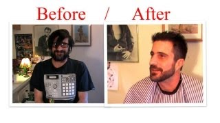 Man Makeover : How to cut hair Trim your Beard with clippers scissors trimmer Mens Haircut