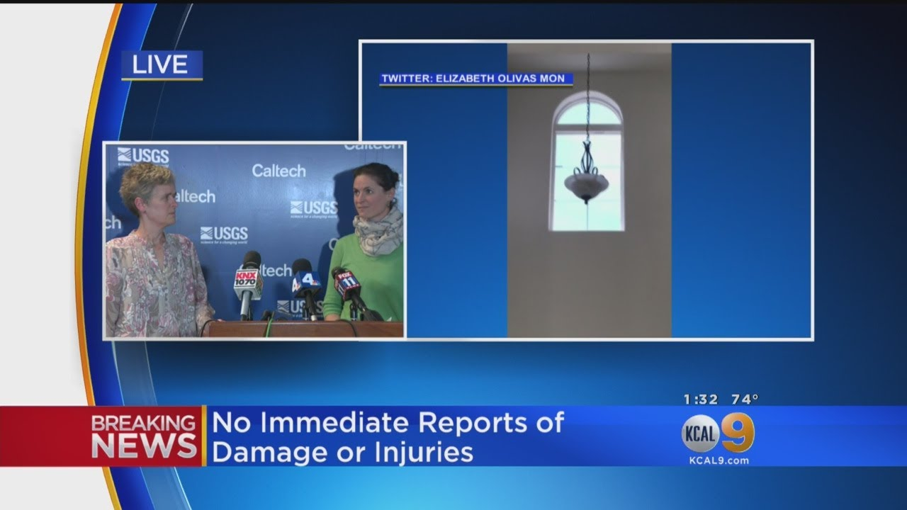 Seismologists Hold News Conference After Quake