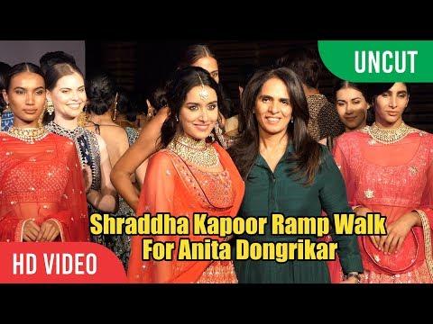 UNCUT - Shraddha Kapoor Ramp Walk For Anita Dongre | Viralbollywood