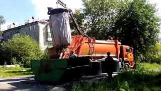 видео Вывоз бытовых отходов