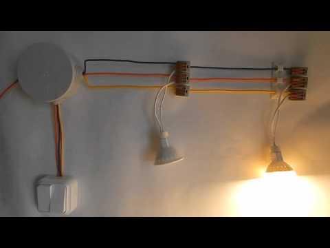 Феномен мигания светодиодных ламп или как не нужно подключать светильники