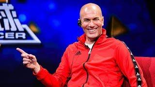 Football superstar Zidane visits CCTV headquarters