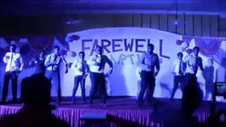 Beautiful Group Dancing on a Hindi Bollywod Song in a Farewell Party College Students