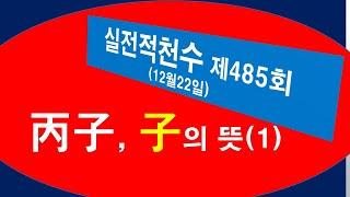 [사주] 실전적천수 485회, (丙子) 子의 의미 (첫…