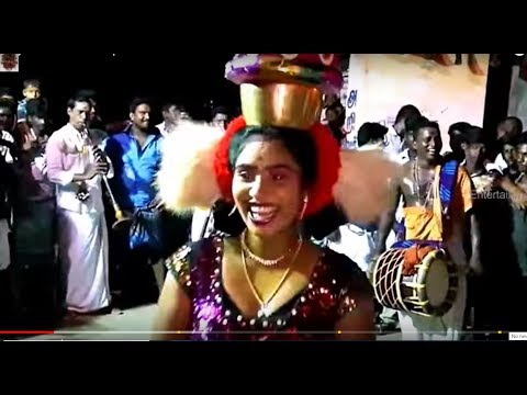 Thanjavur festival competition danch and  music  of karakattam Video Tamil NaduDec 2017 HD 1080p