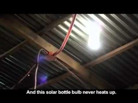 solar bottle to create free lighting