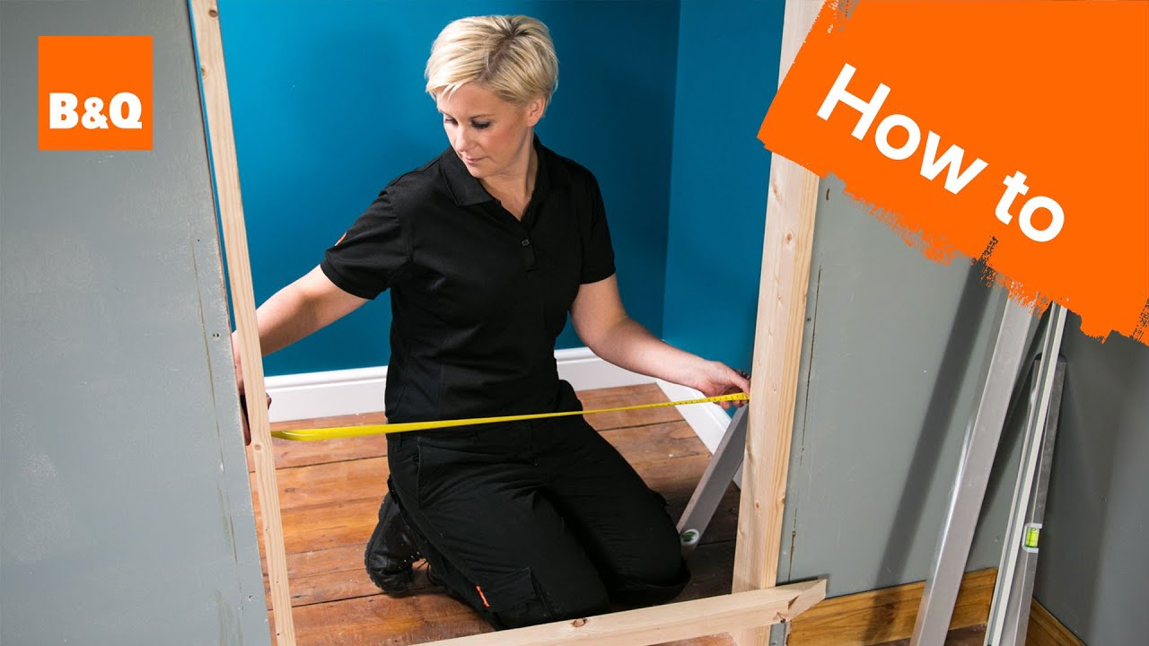 How to fit an internal door frame part 1 removing the old - How to build a door jamb for interior doors ...