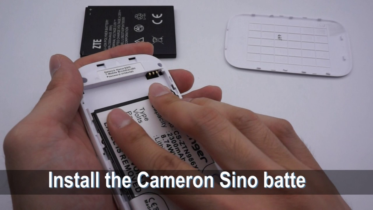 T-MOBILE MF64 battery replacement || How to replace Cameron Sino battery  CS-ZTN986XL