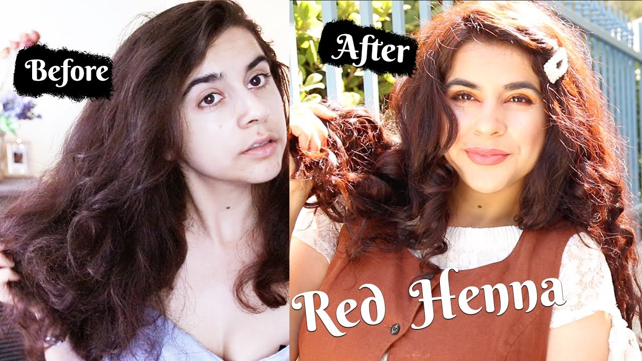 How I dye my dark brown hair with red henna