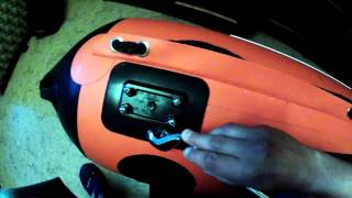 Самостоятельный ремонт, тюнинг ПВХ лодки Solar. Монтаж адаптера Scotty.