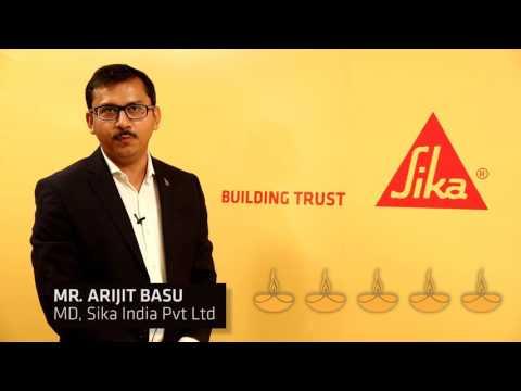 Mr. Arijit Basu, MD, Sika India wishing on Diwali 2016