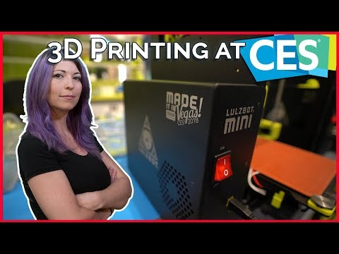 3D Printers at CES 2018 - LulzBot, Raise3D, MarkForged, Polymaker and More!
