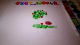 как нарисовать ёжика из мультика пальчиками красками