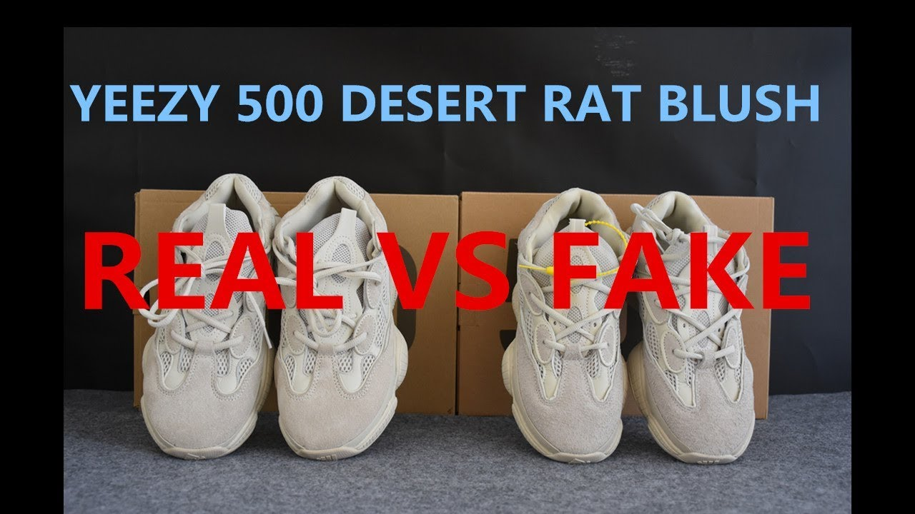 cheaper 2f1c7 27483 Real VS Fake Yeezy 500 Blush Deep Comparison from SUPLOOK