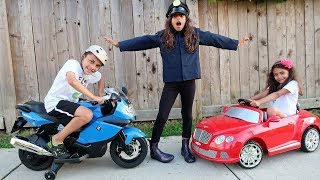 Kids Power Wheels Ride on Car Police Pretend Play