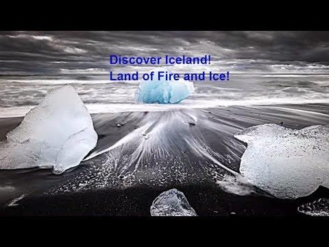 Iceland: Reykjavik,waterfalls, icebergs, geysers, travel and time lapse aurora borealis reykjavik