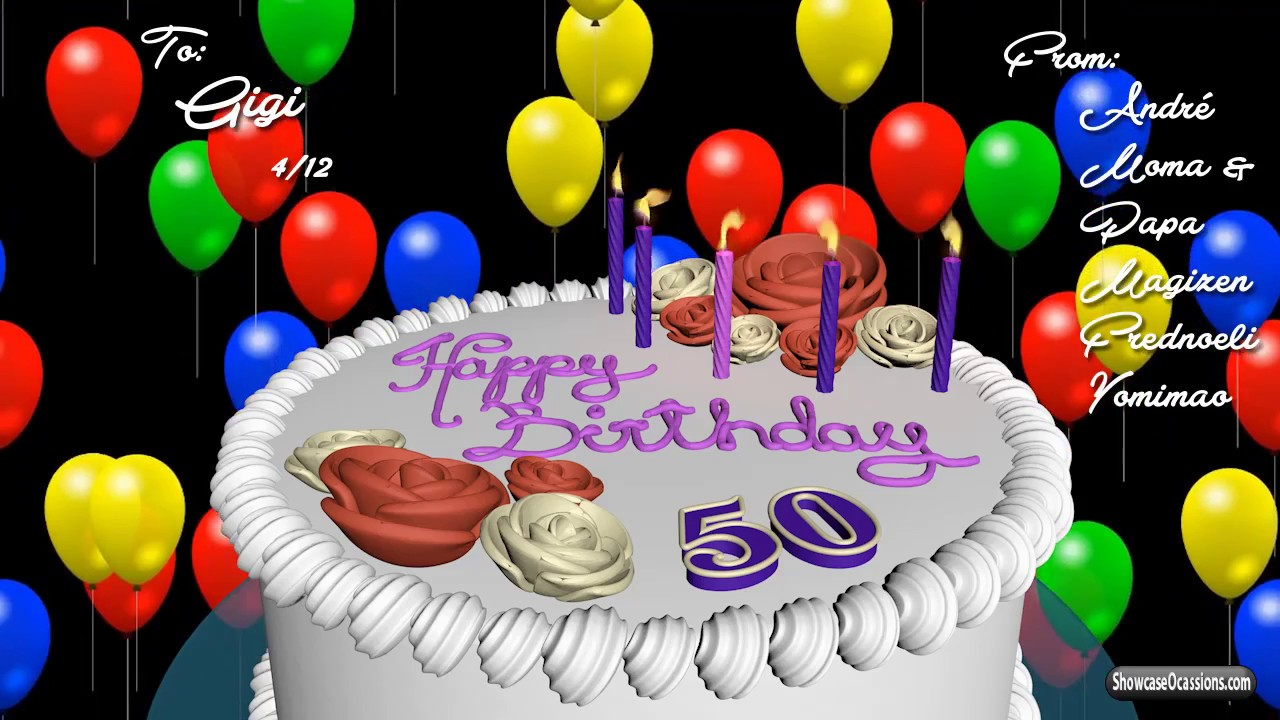 Personalized Birthday animation gift video with licensed song