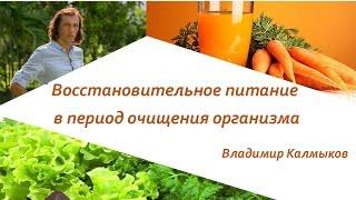 Восстановительное питание. Очищение организма. Часть лекции Владимира Калмыкова.